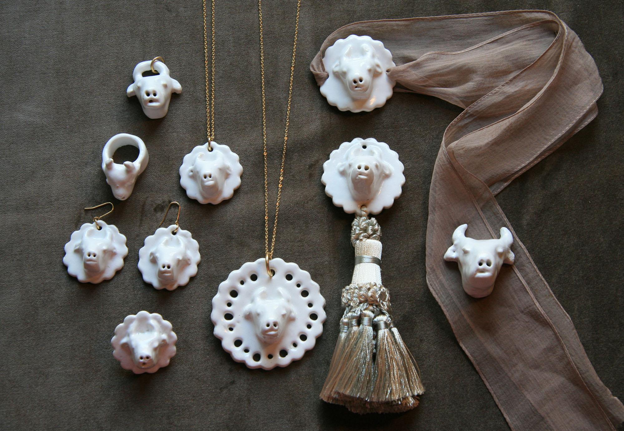 Birbira・・・陶器食器・アクセサリー・オブジェ・フラワーベース/B品たち  mother dictionary 春の会 2012